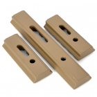 MOE Hand Guard Polymer Rail - Coyote Tan (3-Piece Pack)