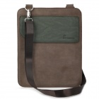 Fashion Genuine Leather Shoulder Bag for iPad / iPad 2 / The New iPad - Coffee