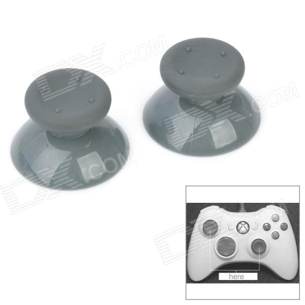 Replacement Plastic Analog Cap for Xbox 360 Controller - Grey (2-Piece) one piece 1x brand new high quality silicon protective skin case cover for xbox 360 remote controller blue green mix color