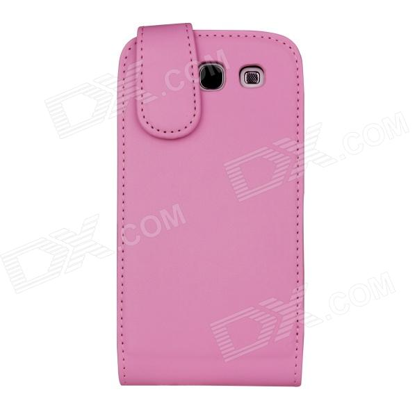 Protective PU Leather Flip Open Case for Samsung Galaxy S3 i9300 - Pink