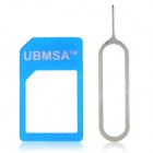 Micro SIM Card to Standard SIM Card Adapter w/ Install Tool for iPhone 3G / 3GS / 4 / 4S - Blue
