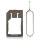 Micro SIM Card to Standard SIM Adapter w/ Install Tool for Iphone 3g / 3GS / 4 / 4S - Coffee