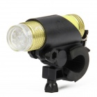 FZ-012 1W 3-Mode 9-LED White Light Bicycle Flashlight w/ Clip - Yellow (3 x AAA)