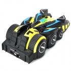 9099-20E R/C 4-Channel IR Controlled Wall Climber Vehicle Model Toy - Yellow + Blue + Black