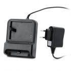 Charging Docking Station w/ Battery Charger + EU Plug Adapter Set for Samsung Galaxy S3 - Black