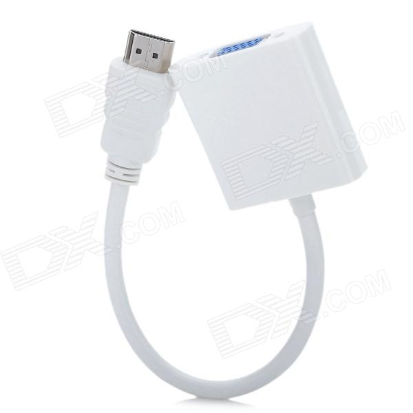 HDMI macho a VGA hembra adaptador de cable de conexión - Blanco (24cm-Cable Length)