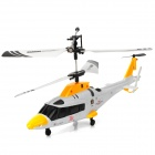 Mini Rechargeable 3.5-CH IR Remote Control Simulation Helicopter - Yellow + Black + White