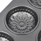 Chrysantheme geformt Kuchen Maker DIY Mold Tray - Grau