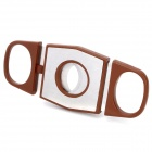 Portable Cigar Cutter Knife - Brown + Silver