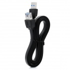 High Speed USB 3.0 Female to Male Extension Flat Cable - Black (100cm)