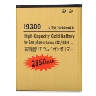 "Rechargeable ""2850mAh"" 3.7V Replacement Battery for Samsung Galaxy S3 i9300 - Golden"