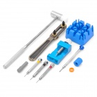 Professional Watch Repair Tools Kit - Silver + Blue