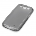 Simple Protective Silicone Back Case for Samsung Galaxy S3 i9300 - Black