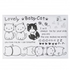 Lovely Cat Pattern Decorative Wall Sticker - Black + White (90 x 60cm)