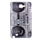 Vintage Tape Recorder Pattern Protective PC Back Case for Samsung i9220 - Grey + Black