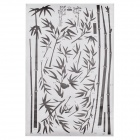 Stylish Bamboo Pattern Decorative Wall Sticker - Black + White (90 x 60cm)