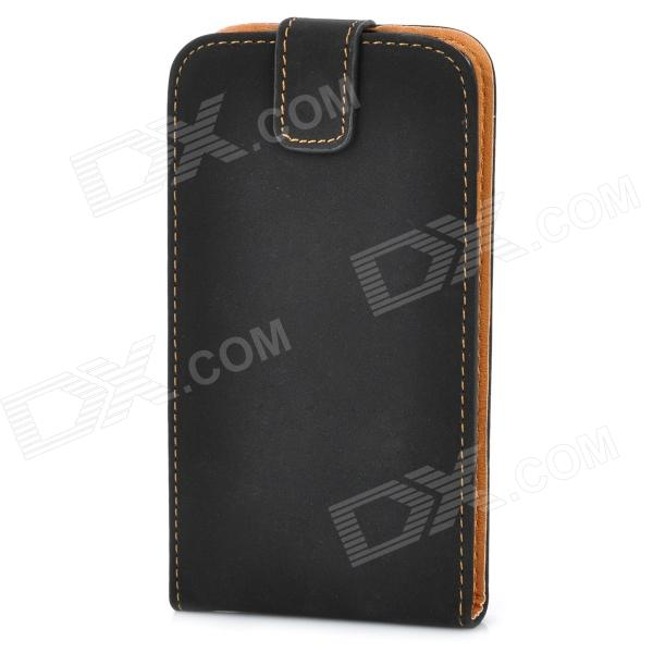 Protective ABS + PU Leather Flip-Open Hard Case for Samsung i9300 Galaxy S3 - Black fashionable protective bumper frame case with bowknot for samsung galaxy s3 i9300 black