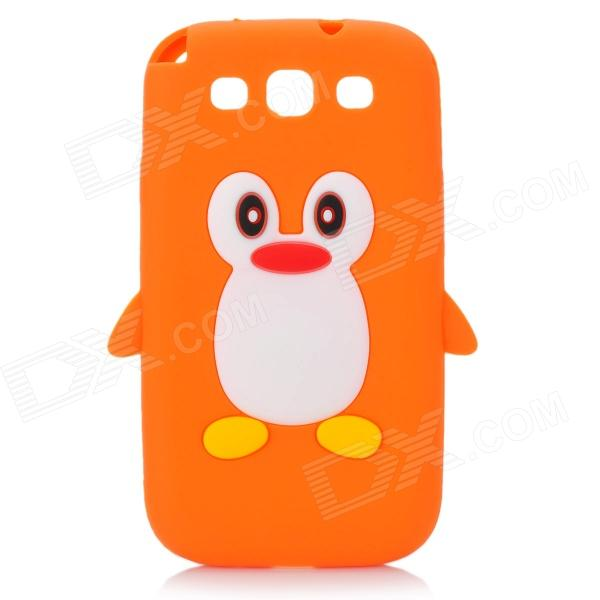 Cute Penguin Style Protective Soft Silicone Case for Samsung Galaxy S3 i9300 - Orange