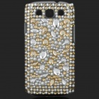 Shining Rhinestone Plastic Case for Samsung i9300 Galaxy S3 - Yellow + White + Silver