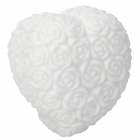 Cute Rose Love Heart Style 1-LED Colorful Light Night Lamp - White
