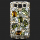 Shining Rhinestone Plastic Case for Samsung i9300 Galaxy S3 - Green + Silver