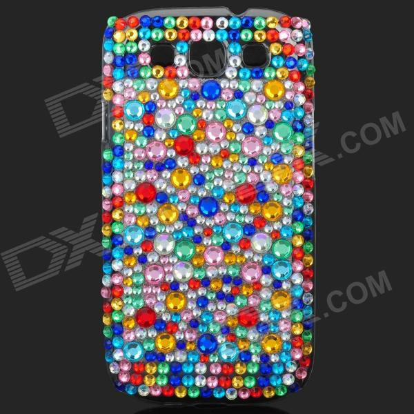 Shining Colorful Rhinestone Plastic Case for Samsung i9300 Galaxy S3 kinston colorful flowers and butterflies pattern plastic protective case for samsung galaxy s3 i9300