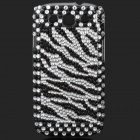 Shining Rhinestone Plastic Case for Samsung i9300 Galaxy S3 - White + Black + Silver