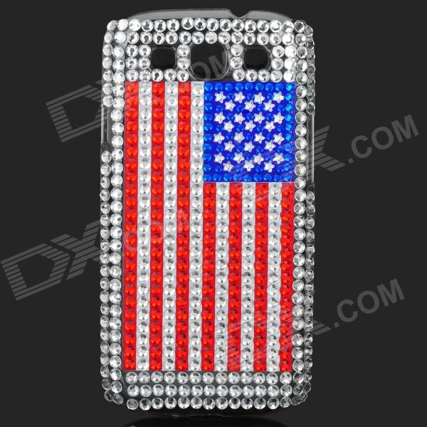 USA National Flag Pattern Shining Rhinestone Plastic Case for Samsung i9300 Galaxy S3 shining rhinestone plastic case for samsung i9300 galaxy s3 purple transparent