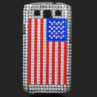 USA National Flag Pattern Shining Rhinestone Plastic Case for Samsung i9300 Galaxy S3