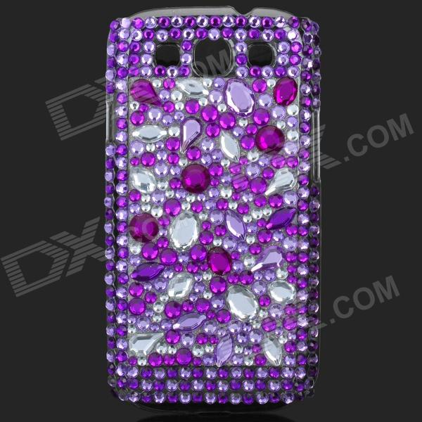 Shining Rhinestone Plastic Case for Samsung i9300 Galaxy S3 - Purple + Transparent shining rhinestone plastic case for samsung i9300 galaxy s3 purple transparent