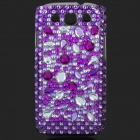 Shining Rhinestone Plastic Case for Samsung i9300 Galaxy S3 - Purple + Transparent