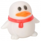 Cute Penguin Style 1-LED Colorful Light Night Lamp - White (3 x AG13)