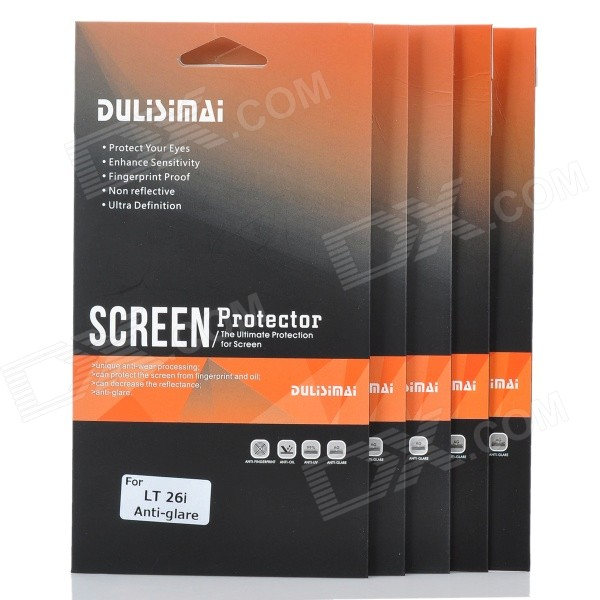 Protective Matte Screen Protector Guard Film for Sony Ericsson LT26i (5-Piece) sony ericsson k800i