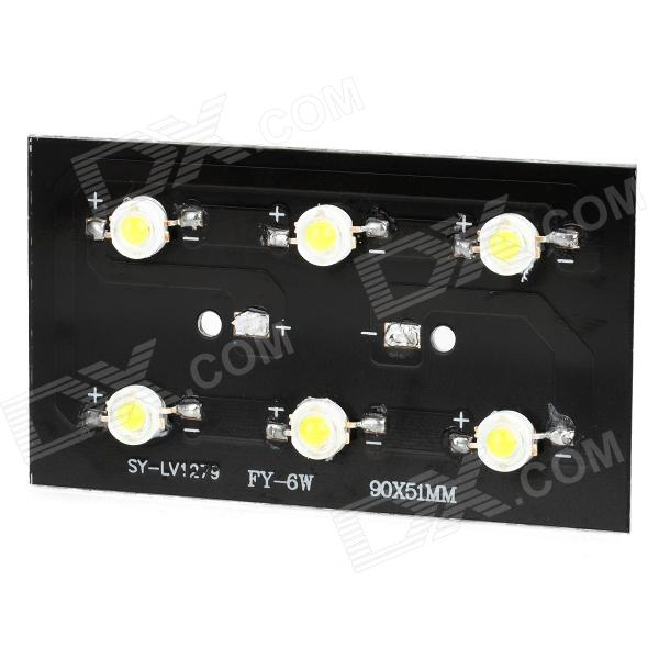 6W 600lm 6000~6500K Cold White Light 6-LED Plate Module (18~21V)