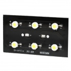 6W 600lm 6000~6500K 6-LED White Light LED Base Plate - Black + Silver