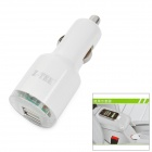 Dual USB Car Cigarette Lighter Power Adapter / Charger - White (DC 12~24V)