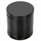 Aluminum Alloy 4-Layer Herb Cigar Cigarette Grinder - Black