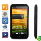 """One Android 4.0 WCDMA Barphone w/ 4.7"""" Capacitive Screen, GPS, Wi-Fi and Dual-SIM - Black"""