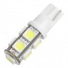 T10 1.5W 162lm 9-LED White Light Car Lamp - White (DC 12V)