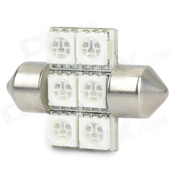 Festoon 30MM 1.2W 55LM 6x5050 SMD Blue LED Car Reading Lamp / Decoration Light Charleston Buy Sell