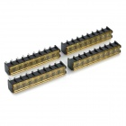 9-Pin Screw Terminal Block Connector with Cover (4-Piece Pack)