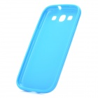 Stylish Protective TPU Back Case for Samsung Galaxy S3 i9300 - Blue