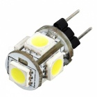 G4 1.2W 65-76LM 6000-6500K White 5-SMD 5050 LED Light Bulb (DC 12V)