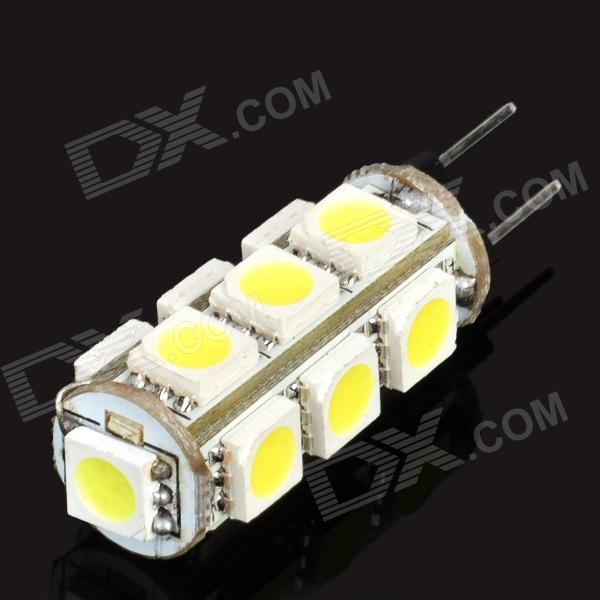 G4 2.6W 182-195LM 6000-6500K White 13-SMD 5050 LED Light Bulb (12V)