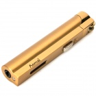 AM228 Cuboid Shaped Stainless Steel Windproof Gas Lighter - Golden