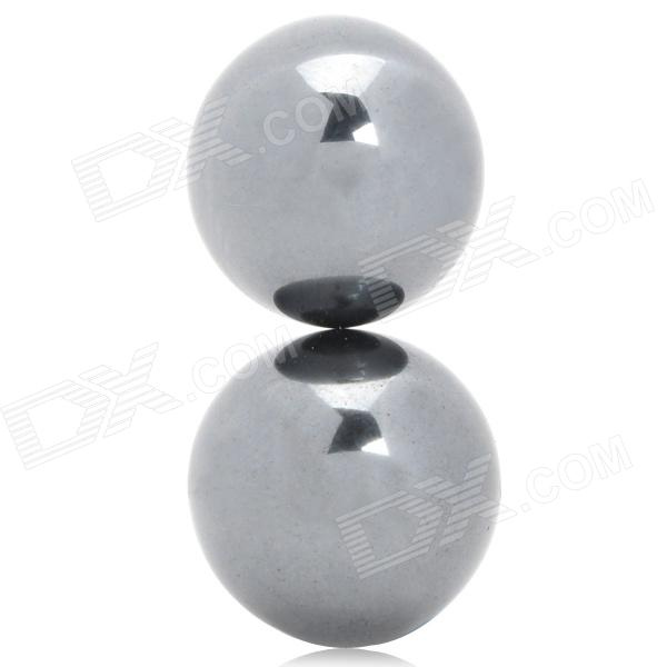 Magnet Buzzing Round Ball Toy - Black (Pair)