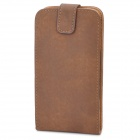 Protective ABS + PU Leather Flip-Open Case for Samsung i9300 Galaxy S3 - Brown