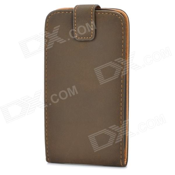Protective ABS + PU Leather Flip-Open Case for Samsung i9300 Galaxy S3 - Brown + Black cool snake skin style protective pu leather case for samsung galaxy s3 i9300 brown
