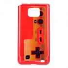Game Controller Style Protective PC Back Case for Samsung Galaxy S 2 i9000 - Red
