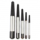 BOSI Professional 5-in-1 Screw Extractors - Black + Silver (5-Piece Pack)